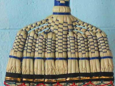 座敷箒のある編み方が『あづま(あずま)型』